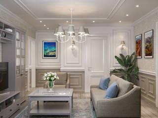 Квартира 78 м² (в работе): Гостиная в . Автор – Студия дизайна интерьеров Екатерины Дозмолиной