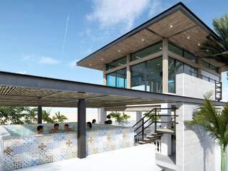 TERRAZA BUNGALÓ PR de CREA arquitectos Moderno