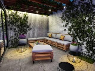 Rustic style balcony, veranda & terrace by Minkarq. Arquitectura y construcción Rustic