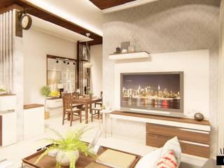 ELEGANT INTERIORS FOR A 3 BHK FLAT AT CHENNAI by Aikaa Designs