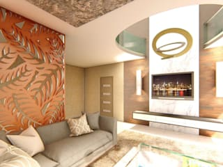 INTERIORS FOR PENTHOUSE AT BENGALURU:   by Aikaa Designs