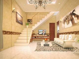 1. Dùng tấm ốp vân đá cho nhà ở hiện đại:   by Công ty TNHH truyền thông nối việt
