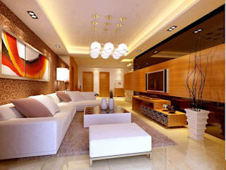 3D Visualisation for Living Room Interior  :   by 360 Home Interior