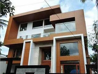 Front Elevation Design - HPL (High Pressure Laminates) 360 Home Interior Prefabricated home Brown