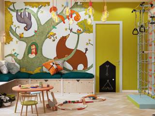 Детская + игровая Детские комната в эклектичном стиле от D'POLLY Эклектичный
