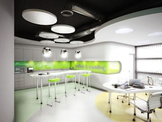 INSPIRA ARQUITECTOS Modern Çalışma Odası