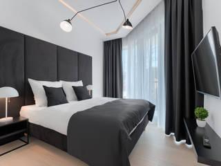 Apartament 203 w Dune C w Mielnie Nowoczesna sypialnia od Tomasz Wachowiec Fotografia Wnętrz Nowoczesny