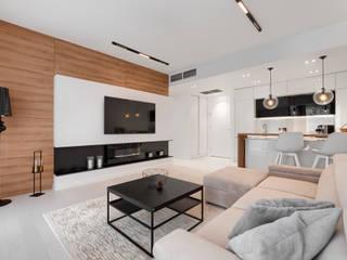 Apartament 215 w Dune B w Mielnie Nowoczesny salon od Tomasz Wachowiec Fotografia Wnętrz Nowoczesny