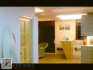 小家庭 北歐風 FU~ :  小廚房 by 艾莉森 空間設計