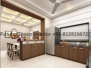 Bunglow Interior Project at kadi Modern kitchen by Future Space Interior Modern
