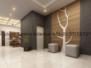 Bunglow Interior Project at kadi Modern corridor, hallway & stairs by Future Space Interior Modern