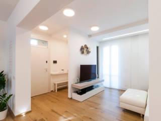 msplus architettura Вітальня Керамічні Білий