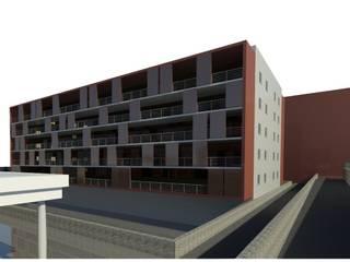 Edifício Habitacional: Lojas e espaços comerciais  por Luciana Ribeiro Arquiteta