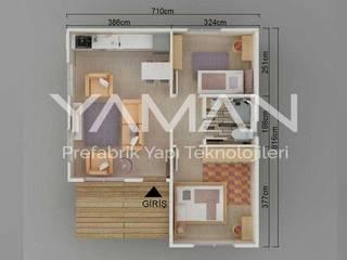 Prefabrik Ev (Yaman Prefabrik) – 49 m2 Prefabrik Ev:  tarz