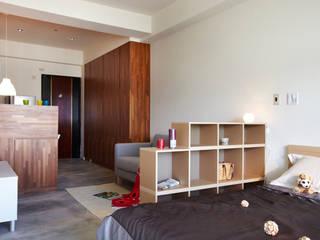 Dormitorios de estilo escandinavo de 弘悅國際室內裝修有限公司 Escandinavo