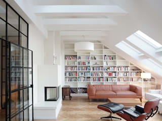 Dachgeschossausbau SO36 Moderne Wohnzimmer von wolff:architekten Modern