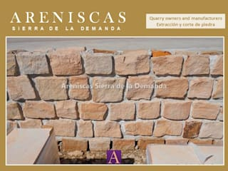 Oleh Areniscas Sierra de la Demanda - ◉ - SIERRA Buff Sandstone quarries in Spain Rustic