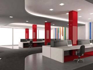 ANTE MİMARLIK Edificios de oficinas de estilo moderno Rojo