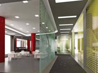 ANTE MİMARLIK  – Cam bölmeler:  tarz Ofis Alanları