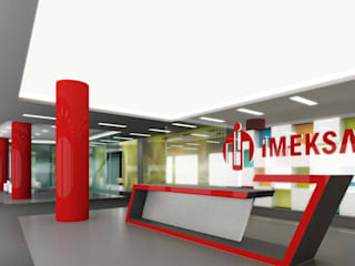ANTE MİMARLIK  – Resepsiyon ünitesi:  tarz Ofis Alanları
