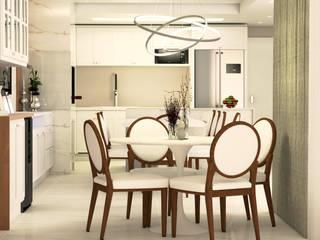Espaço Gourmet Cobertura Duplex Salas de jantar clássicas por Malu Zanatto Arquitetura Clássico
