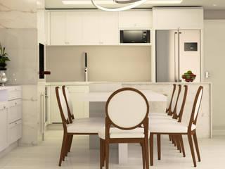 Espaço Gourmet Cobertura Duplex por Malu Zanatto Arquitetura Clássico