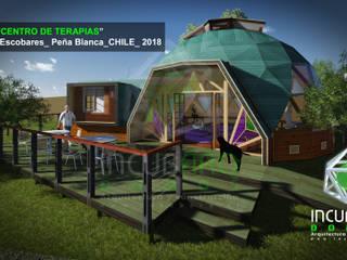 Imagen  objetivo _vista sur acceso: Cabañas de estilo  por Incubarq