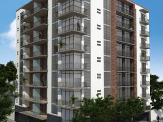 DEPARTAMENTOS BALTIMORE 118 Casas modernas de MHL Arquitectos Moderno