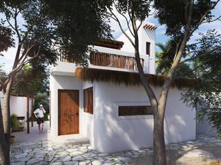 CASA HABITACION_ MAHAHUAL Casas modernas de MHL Arquitectos Moderno