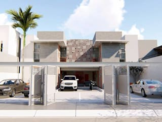 DEPARTAMENTOS BACATETE de CREA arquitectos Moderno
