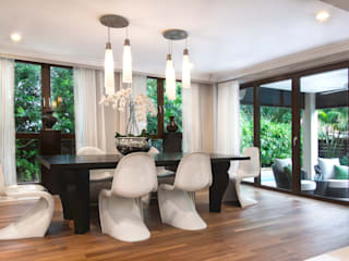 Airy Elegance Modern dining room by Design Intervention Modern