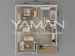 Prefabrik Ev (Yaman Prefabrik) – 53 m2 Prefabrik Ev:  tarz