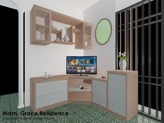 Gentle Road:  Living room by Swish Design Works