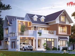Famous Architects in Cochin Asian style houses by CreoHomes Pvt Ltd Asian