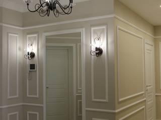 """ЖК """"Ладья"""" 2 Коридор, прихожая и лестница в классическом стиле от Архитектурная студия 'Арт-Н' Классический"""