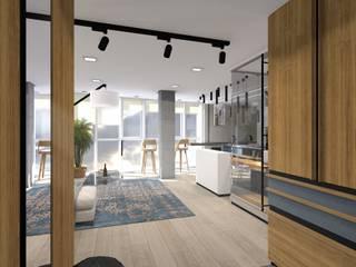 СТУДИЯ Коридор, прихожая и лестница в стиле лофт от Архитектурная студия 'Арт-Н' Лофт