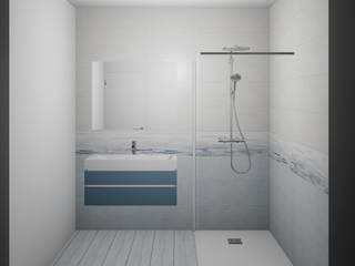"""Salle de bain """"bleu"""" par Martin Olivia"""