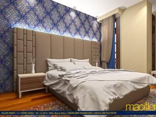 Paftalı Revize Modern Yatak Odası Macitler Mobilya Modern