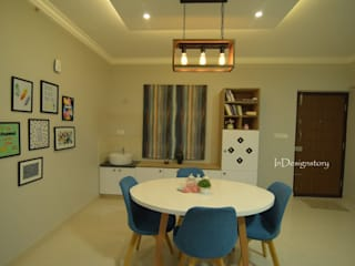 3 BHK Apartment- Ahad Euphoria-Bangalore :  Dining room by InDesign Story