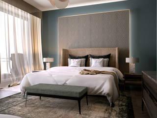 Apartment 7, Noida Modern style bedroom by Design Concept creative studio Modern