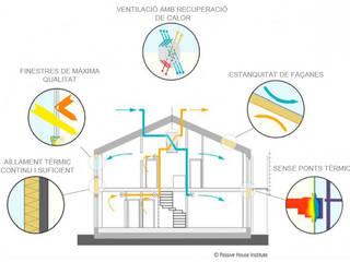 Passivhaus - Divers Arquitectura:  de estilo  de Divers Arquitectura, especialistas en Passivhaus en Sabadell