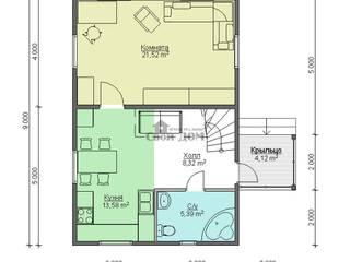 дом из бруса 6*9 м: Кухни в . Автор – Свой Дом,