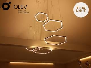 Nowoczesna lampa wisząca: styl , w kategorii  zaprojektowany przez The Light