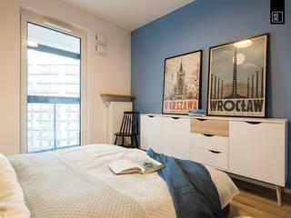 Habitaciones de estilo  por KODO projekty i realizacje wnętrz, Moderno