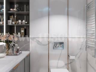 Baños de estilo  por Дизайн студия 'Дизайнер интерьера № 1'
