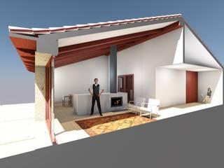 Casa Aguiã: Salas de estar  por GomesAmorim Arquitetura