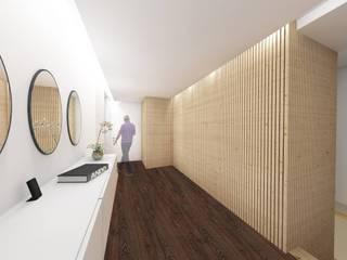 GomesAmorim Arquitetura Modern corridor, hallway & stairs