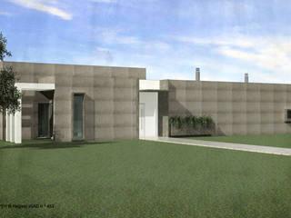 ATELIER OPEN ® - Arquitetura e Engenharia Einfamilienhaus Stahlbeton Weiß