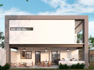 Casas en fraccionamiento Real del Nogalar (en construcci´ón): Casas de estilo  por VillaSi Construcciones