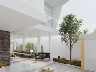 VILLA CUBA Balcones y terrazas de estilo minimalista de Studio17-Arquitectura Minimalista